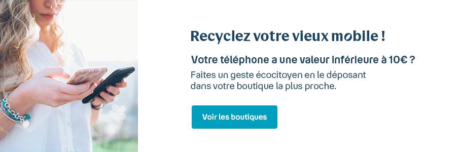 Recyclez votre vieux mobile